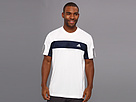 adidas - Tennis Sequencials Galaxy Tee (White/Collegiate Navy)