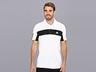 adidas - Tennis Sequencials Galaxy Polo (White/Black)