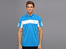 adidas - Tennis Sequencials Galaxy Polo (Solar Blue/White) - Apparel