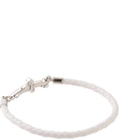 Cesare Paciotti - Braided White Leather Bracelet - JPBR0591B
