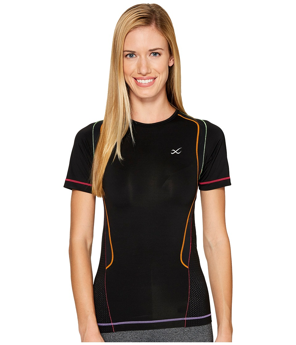 CW-X - S/S Ventilator Web Top (Black/Rainbow) Women
