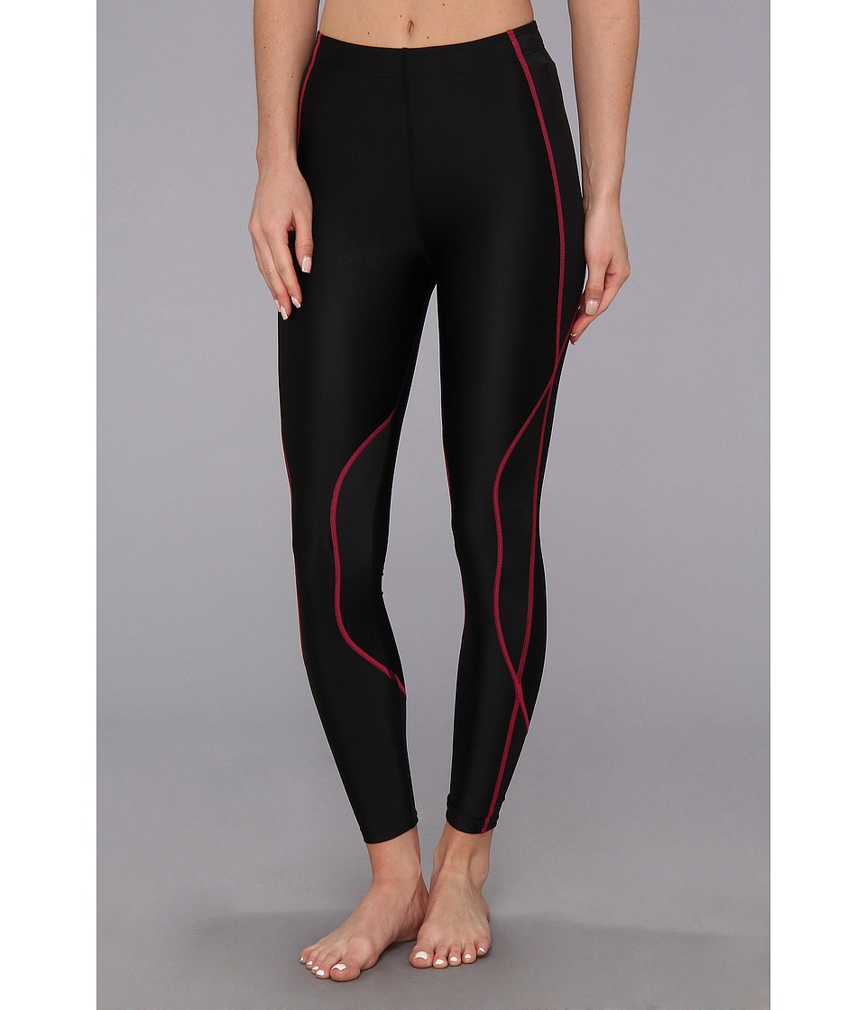 CW X TraXter Recovery Tights Black/Raspberry Womens Workout