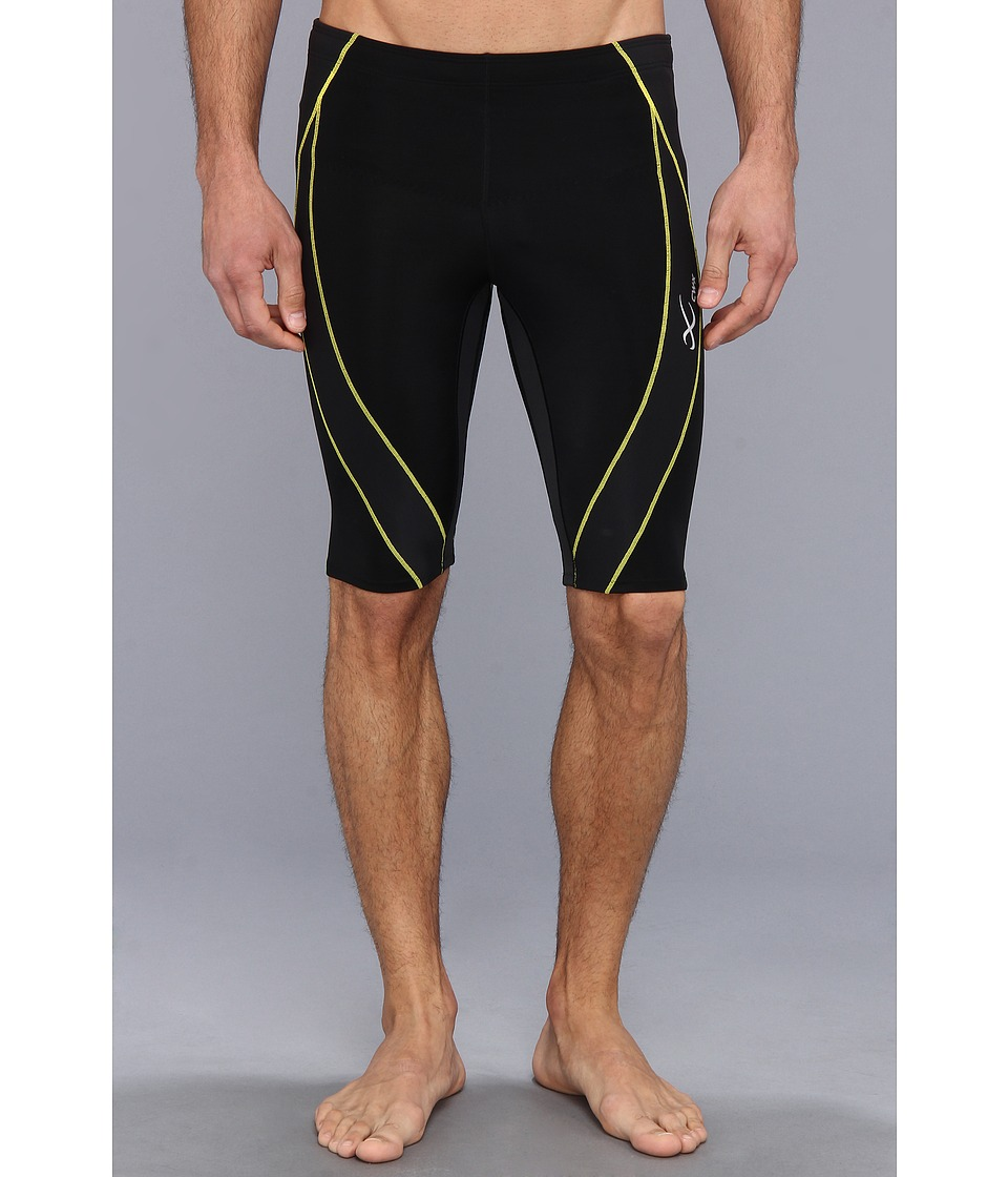 CW X Endurance Generator Shorts Black/Green/Yellow Mens Shorts