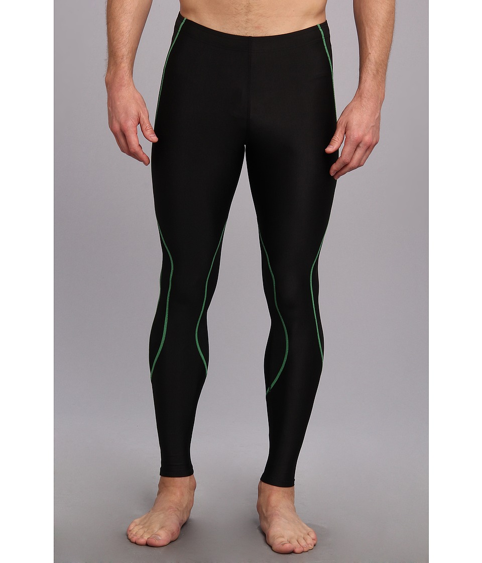 CW X TraXter Recovery Tights Black/Lime Mens Workout