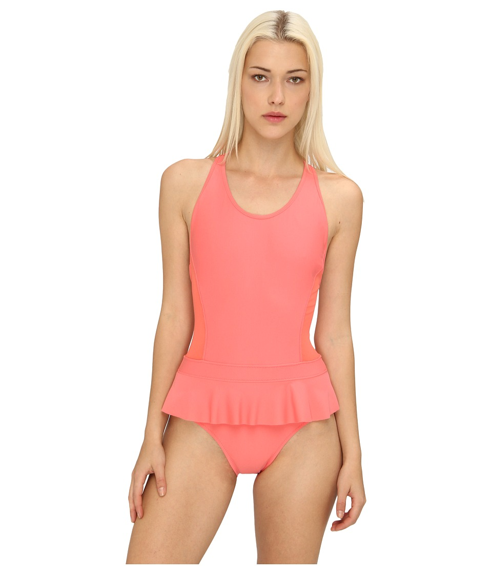 adidas by Stella McCartney Performance One Piece Swimsuit F50295 (Bright Coral) Women's Swimsuits One Piece<br />