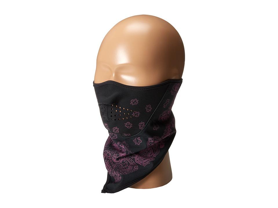 Seirus Softshell Combodana Paisley Black/Rose Scarves