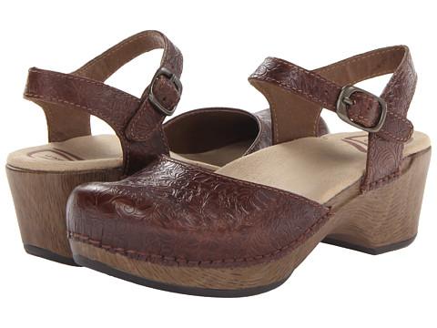 Dansko - Sam (Brown Floral Tooled) - Footwear