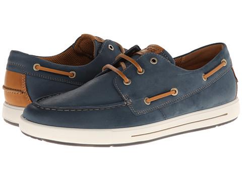 ECCO - Eisner Boat Sneaker (Denim Blue/Lion Starbuck/Sambal) - Footwear