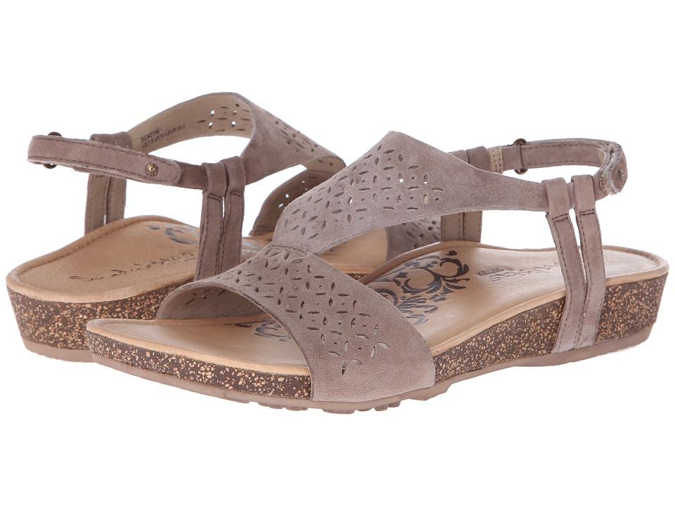 Aetrex Sandalista Melanie Adjustable Quarter Strap Taupe Womens Sandals