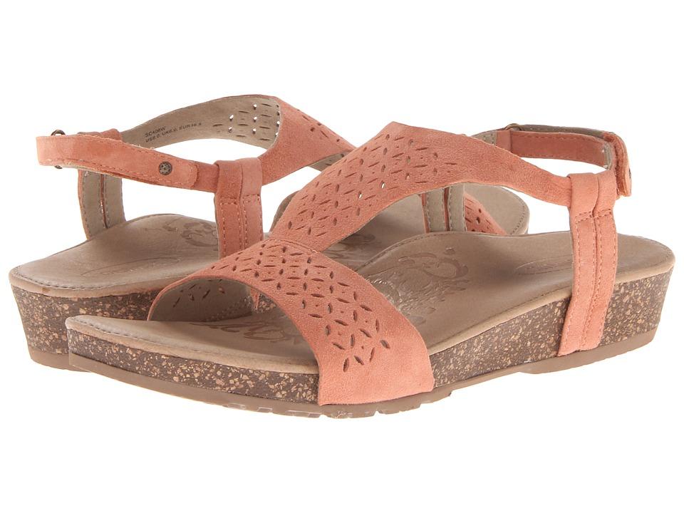 Aetrex Sandalista Melanie Adjustable Quarter Strap Dusty Orange Womens Sandals