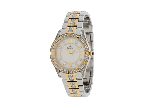 Bulova Womens Crystal - 98L135 - Two-Tone