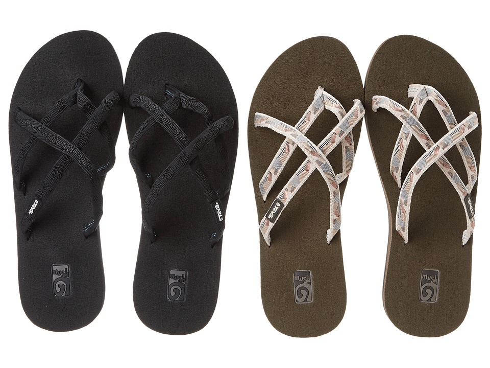 Teva - Olowahu 2-Pack (Mbob/Waterfall Antique Gold) Womens Sandals