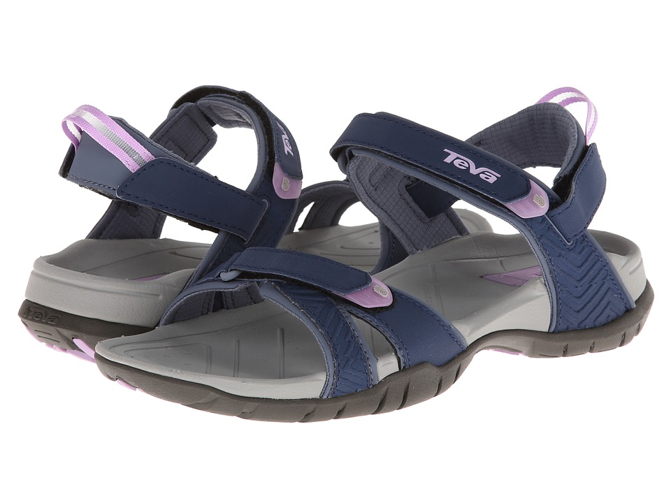 Teva - Numa - Print (Navy) Women's Flat Shoes