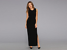 KAMALIKULTURE - Shift Maxi Gown w/ Slit (Black) - Apparel