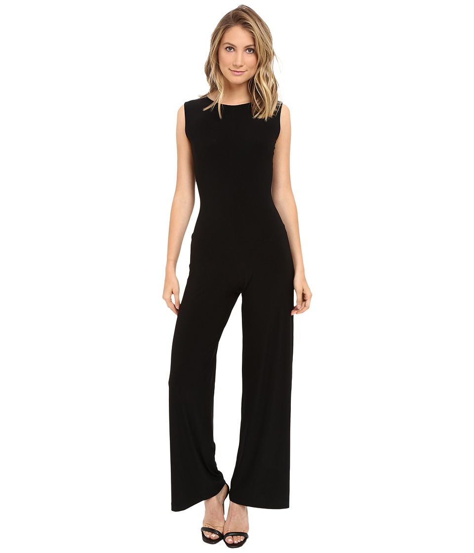 KAMALIKULTURE by Norma Kamali - Sleeveless Jumpsuit (Black) Womens Jumpsuit & Rompers One Piece