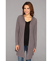 Allen Allen - Hooded Open Cardigan Thermal Wrap