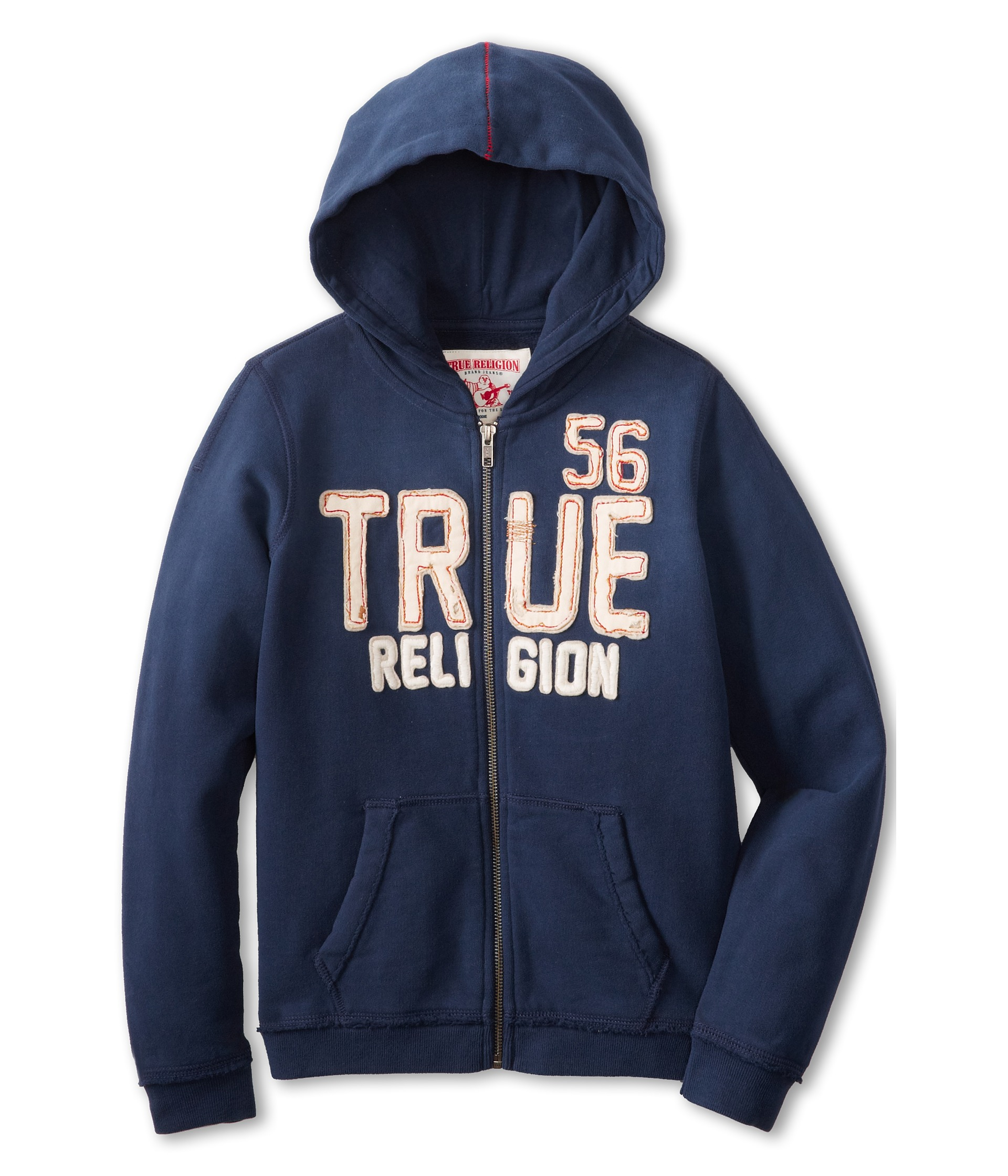 true religion kids boys true applique hoodie toddler little kids big kids shipped free at zappos. Black Bedroom Furniture Sets. Home Design Ideas