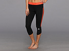 adidas - Response Three-Quarter Tight (Black/Bahia Coral) - Apparel