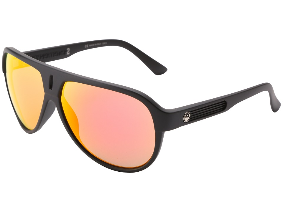 Dragon Alliance Experience II Matte Black/Red Ion Sport Sunglasses