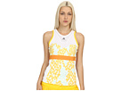 adidas - Stella McCartney Barricade Tank Top -Print 1 (White/Universe Grey/Wonder Glow/Fresh Aqua/Joy Orange) - Apparel