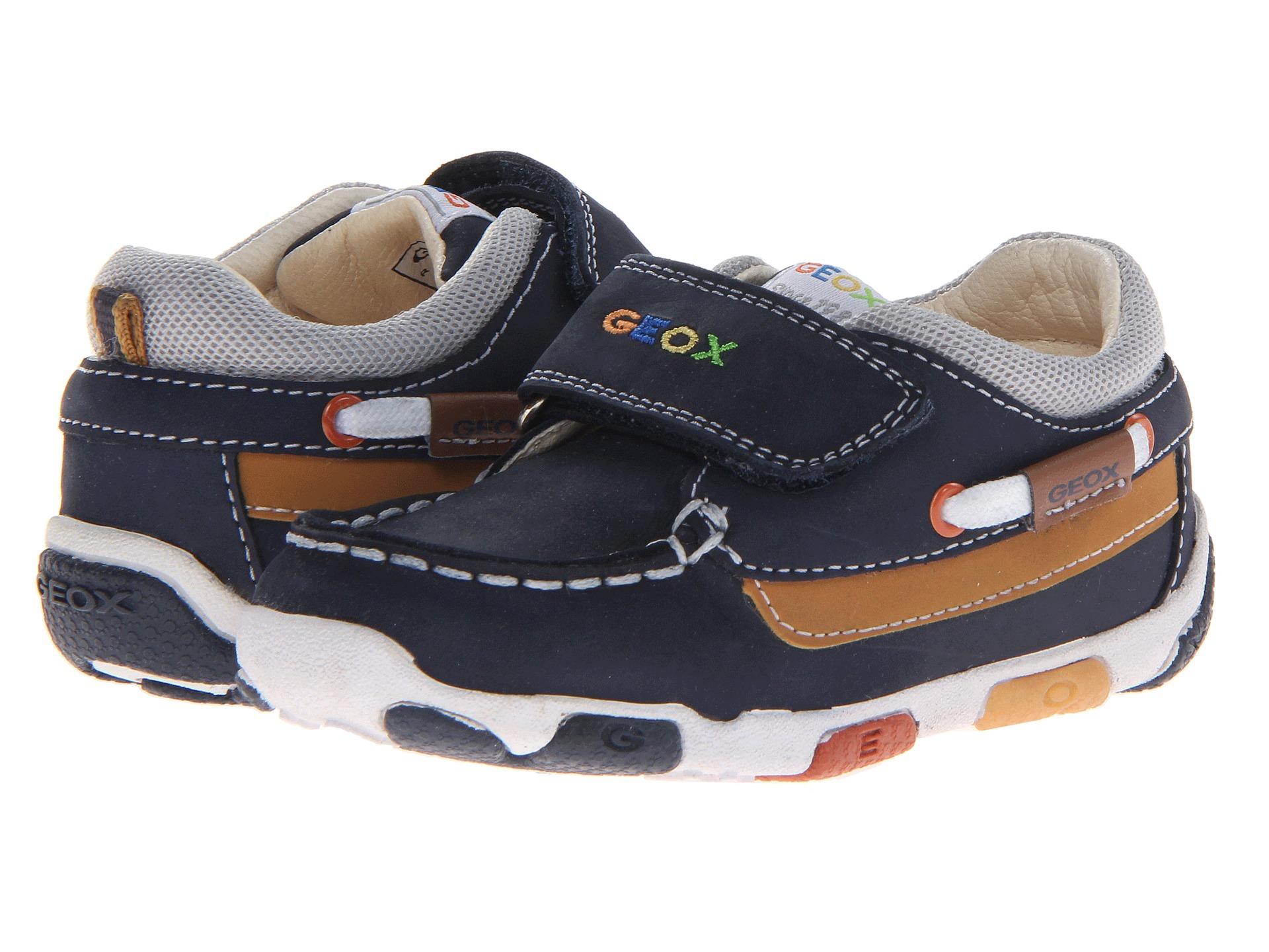 Geox Kids Baby Balu Boy Boat Shoe 27 Toddler Navy Light