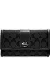 COACH - Legacy Printed Signature Check Book Wallet