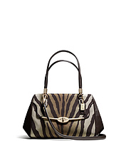 COACH - Madison Small Madeline East/West Satchel In Zebra Print Fabric