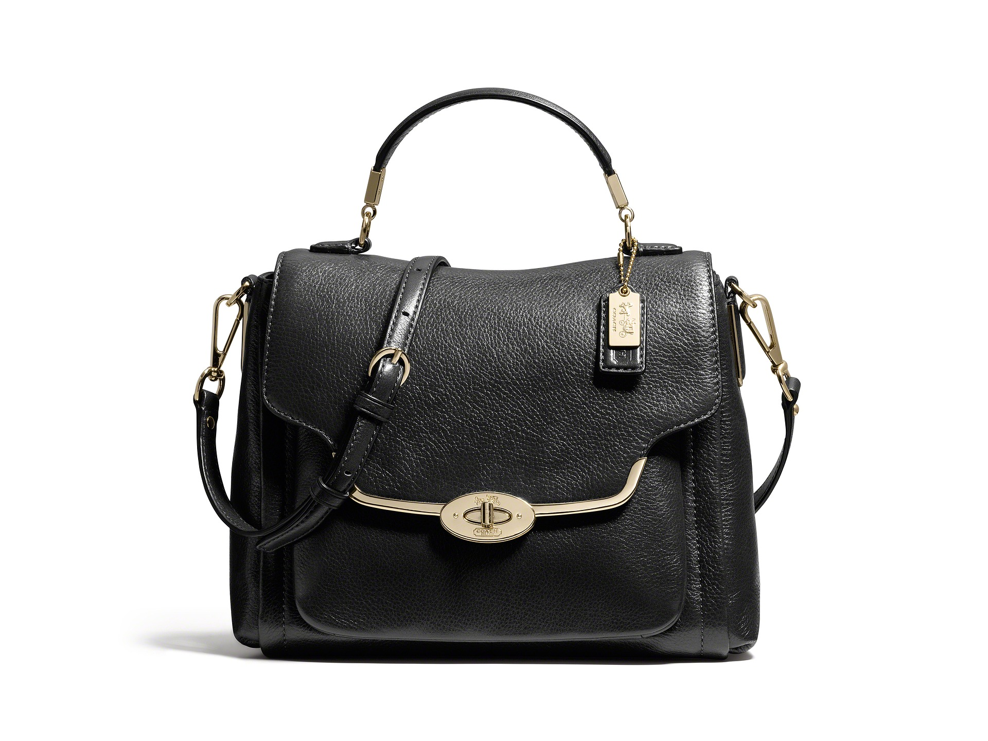 Coach Madison Small Sadie Flap Satchel In Leather ...