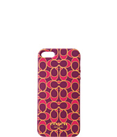 COACH - iPhone® 5 Case in Poppy Signature Metallic Outline