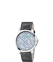 Gucci - G-Timeless 40mm Leather Strap Watch with Diamonds-YA126307