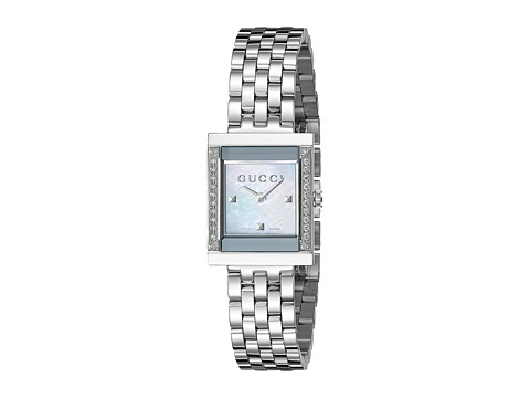 Gucci G-Frame 19mm Stainless Steel Watch with Diamonds-YA128405
