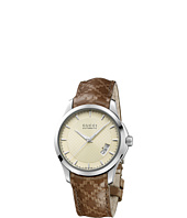 Gucci - G-Timeless 38mm Leather Strap Watch with Diamonds-YA126421