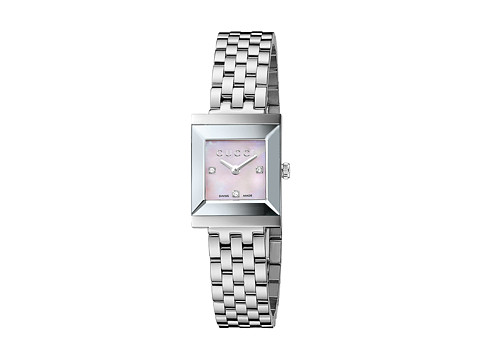 Gucci G-Frame 19mm Stainless Steel Watch with Diamonds-YA128401