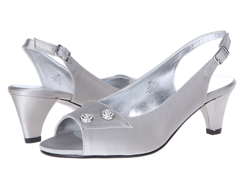Vintage Style Wedding Shoes Boots Flats Heels David Tate Party Silver Womens
