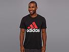 adidas - adidas Logo Ultimate Tee (Black/Light Scarlet/White) - Apparel