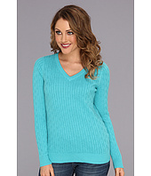 Caribbean Joe - Long Sleeve Cable V-Neck