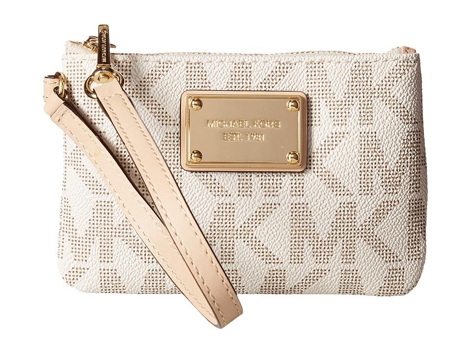 MICHAEL Michael Kors - Jet Set 18K Sm Wristlet (Vanilla) Wristlet Handbags