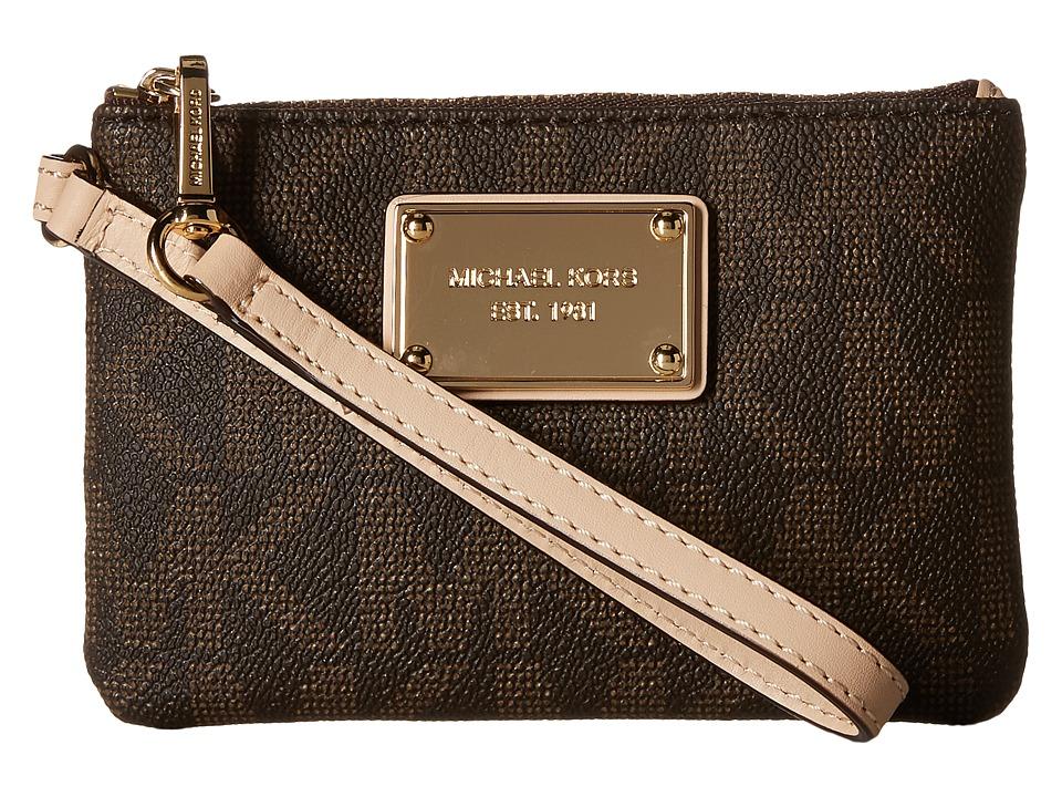 MICHAEL Michael Kors - Jet Set 18K Sm Wristlet (Brown) Wristlet Handbags