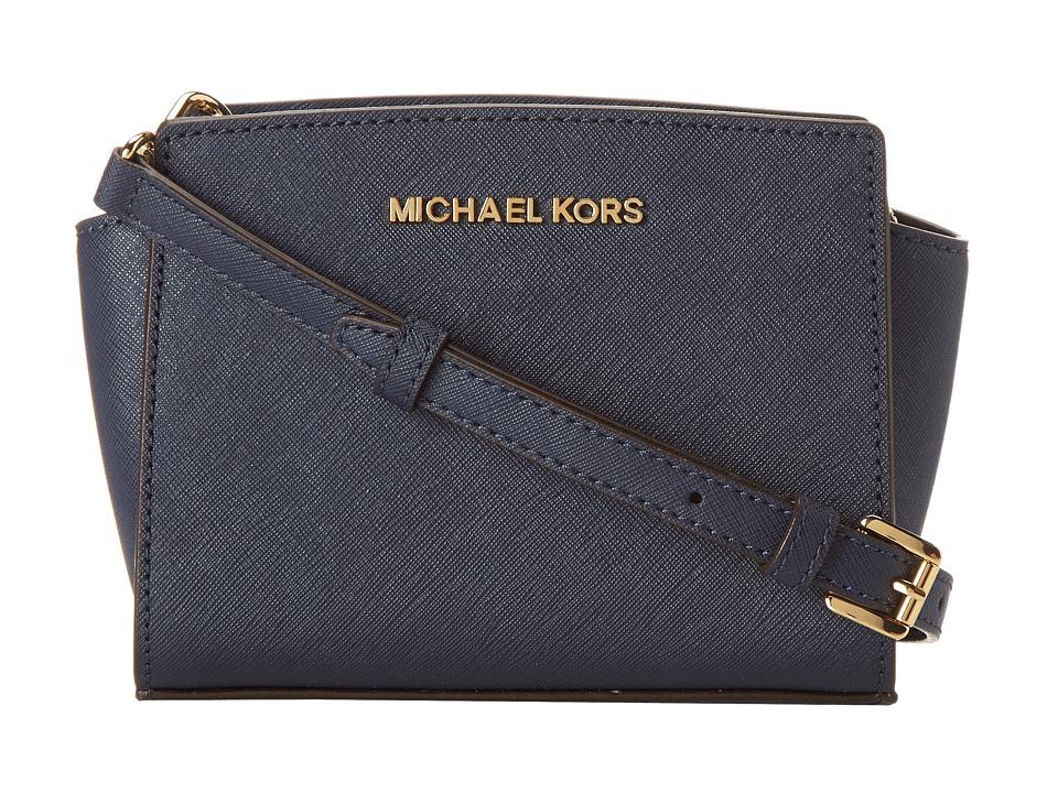 MICHAEL Michael Kors Selma Mini Messenger Navy Cross Body Handbags