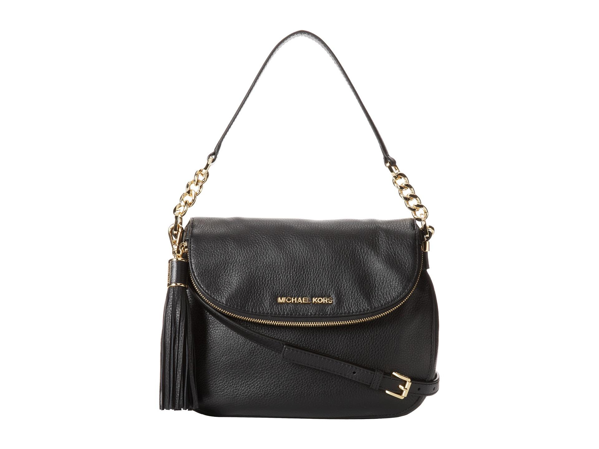 Michael Kors Bedford Black Leather Shoulder Tote Bag 114