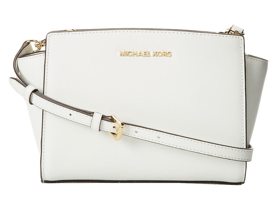 MICHAEL Michael Kors Medium Selma Messenger Optic White Cross Body Handbags