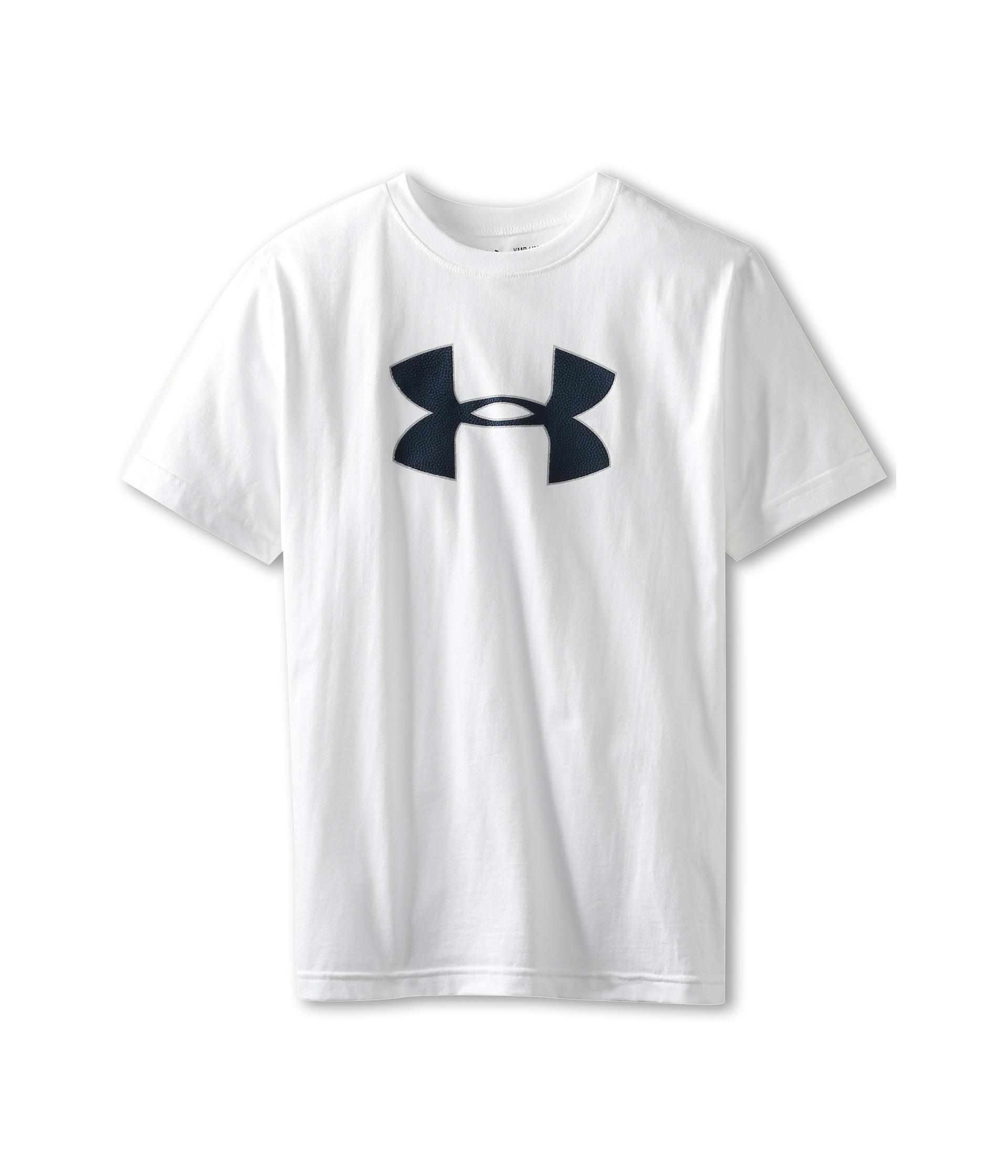 Under armour kids boys football big logo t shirt shipped for Under armour shirts for kids