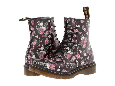 Dr. Martens - 1460 W (Black Vintage Rose Softy T) - Footwear