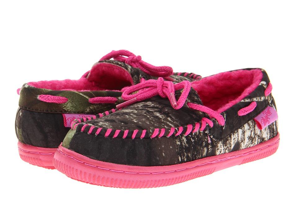 M&F Western Mossy Oak Moccasin Slippers (Toddler/Little Kid/Big Kid) (Mossy Oak/Hot Pink) Women
