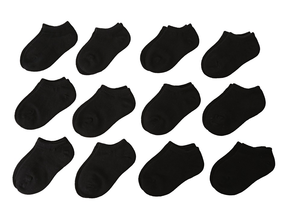 Stride Rite 12 Pack Comfort Seam No Show Infant/Toddler/Little Kid/Big Kid Black Kids Shoes