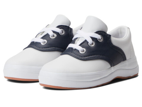 Keds Kids School Days II (Toddler/Little Kid) - White/Navy Leather