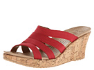 Crocs - A-Leigh Cork Wrap Wedge (Dark Red/Gold) - Footwear