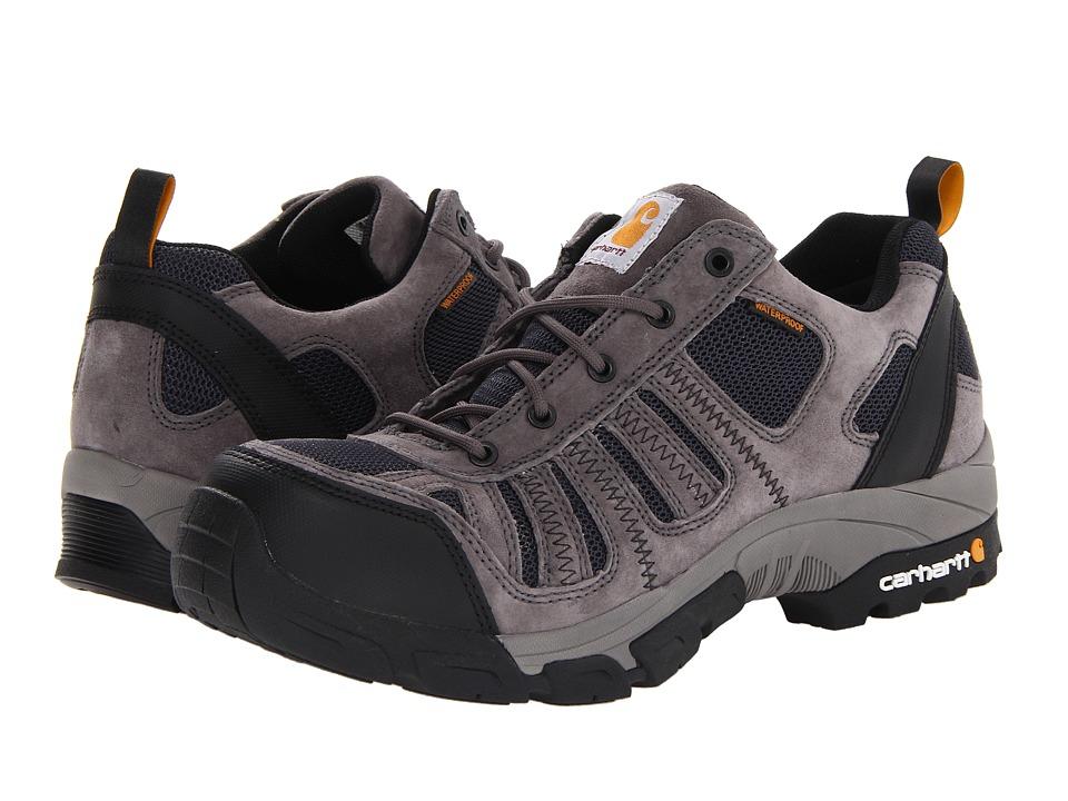 Carhartt Lightweight Low Waterproof Work Hiker Composite Toe (Grey Suede/Navy Mesh) Men