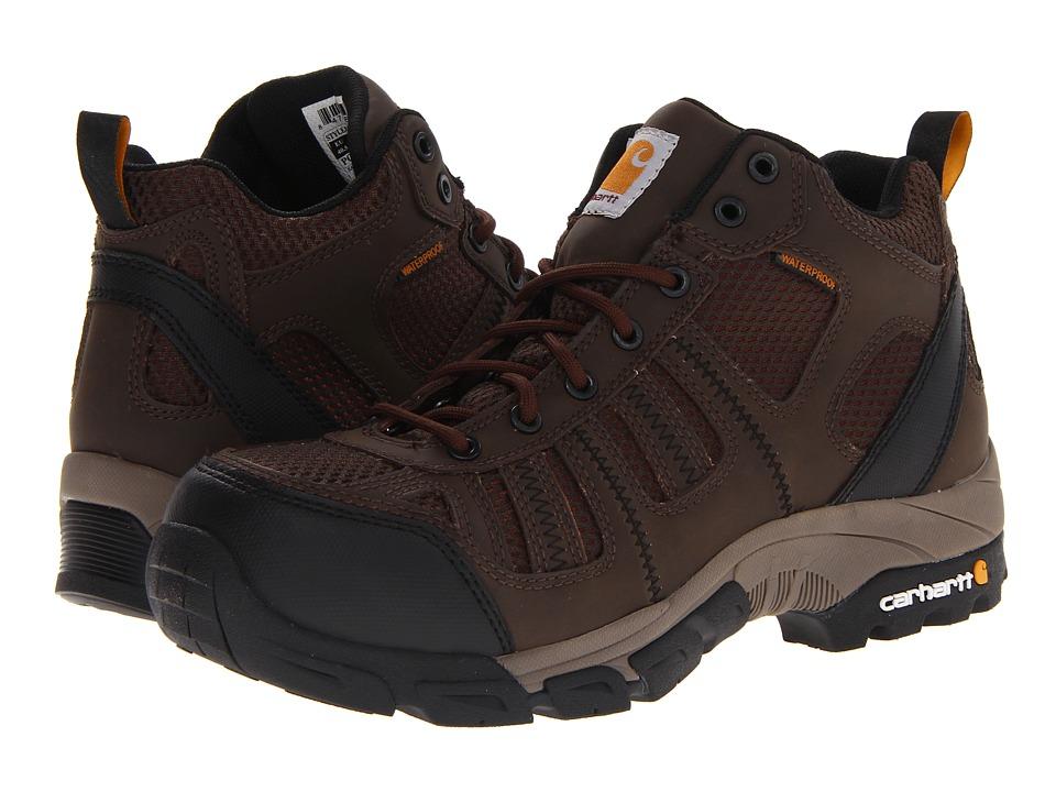 Carhartt Lightweight Waterproof Work Hiker Composite Toe (Brown/Brown) Men