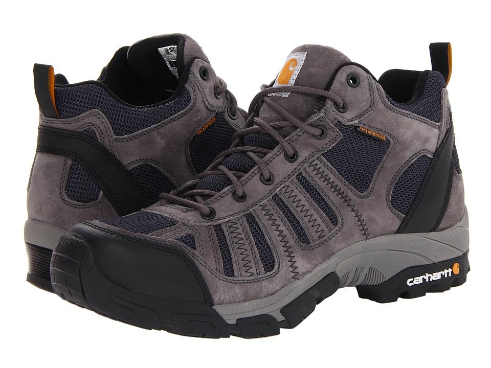 Carhartt Lightweight Waterproof Work Hiker Soft Toe (Grey/Blue) Men